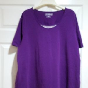Purple Top with strip edging